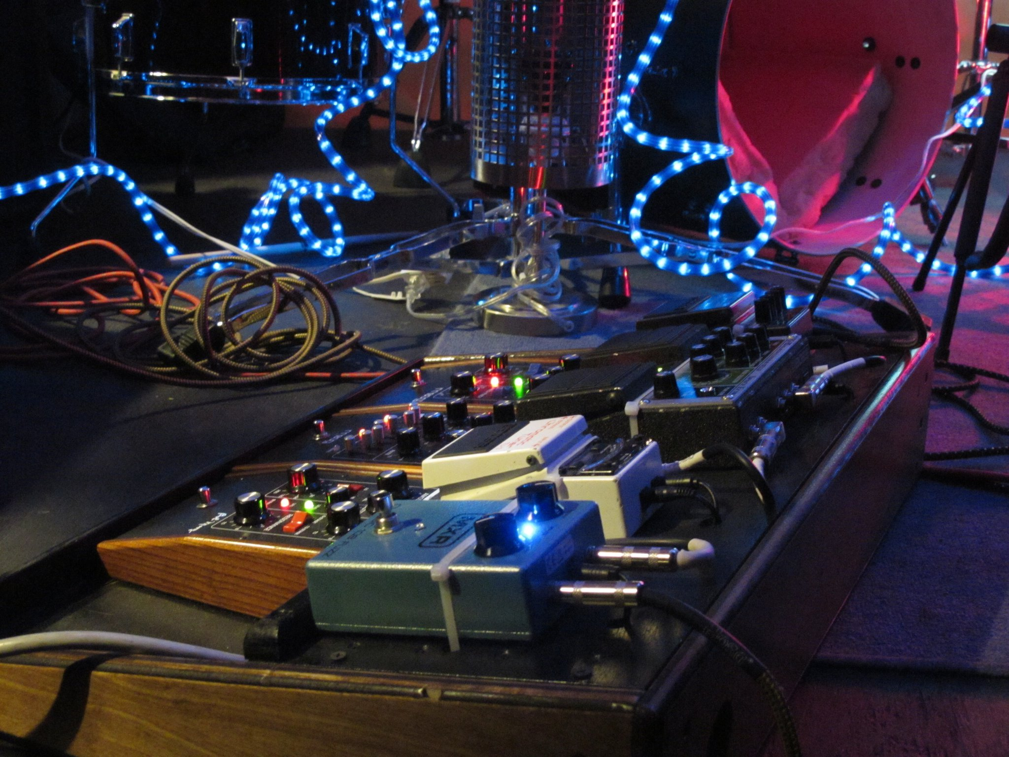 Pedalboard on stage